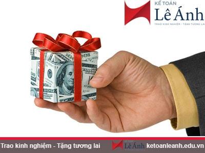 Hướng dẫn hạch toán với hàng hóa cho, biếu tặng