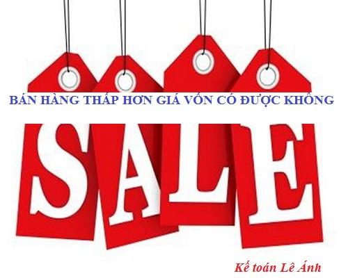 bán hàng thấp hơn giá vốn