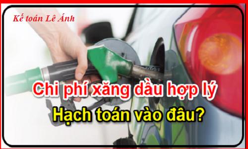 hướng dẫn hợp thức hóa chi phí xăng dầu