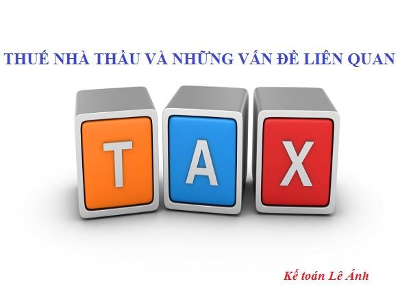 hướng dẫn kê khai thuế nhà thầu