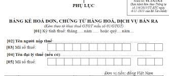 Hướng dẫn chi tiết cách lập bảng kê hóa đơn, chứng từ hàng hóa, dịch vụ bán ra (Phụ lục 01-1/GTGT)