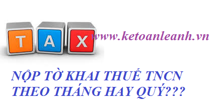 Cách xác định để biết doanh nghiệp nộp tờ khai Thuế TNCN theo Tháng hay Qúy