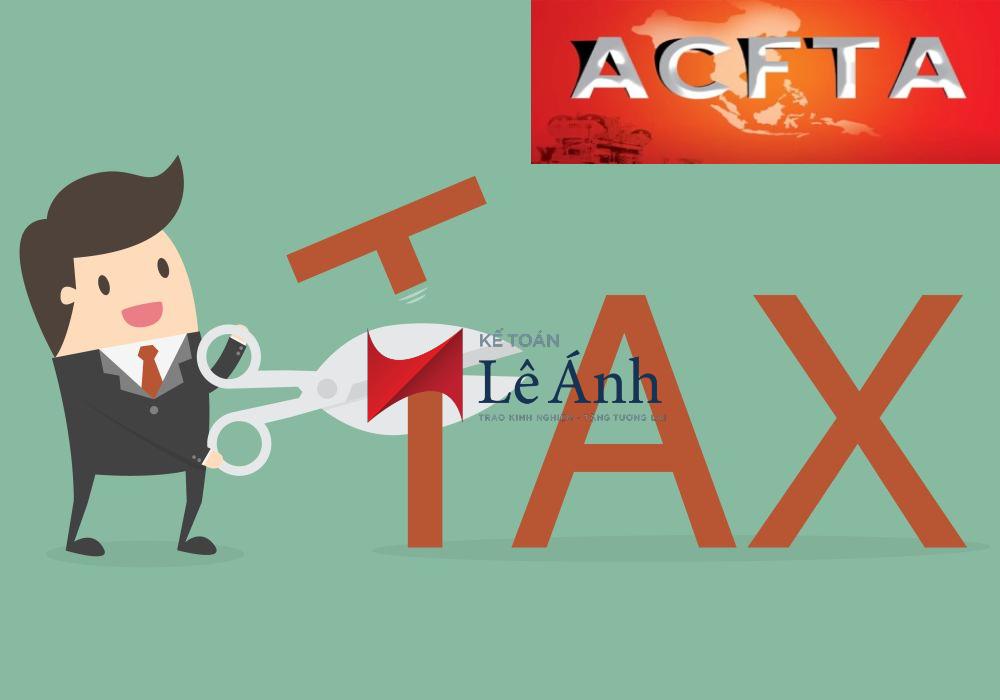 Biểu thuế ACFTA 2018 - 2022 - Nghị định 153/2017/NĐ-CP