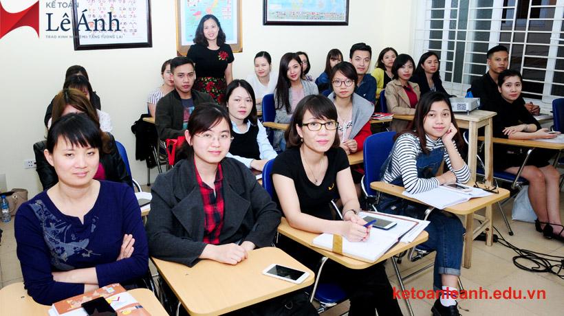Hình ảnh khóa học kế toán tổng hợp tại Kế toán Lê Ánh