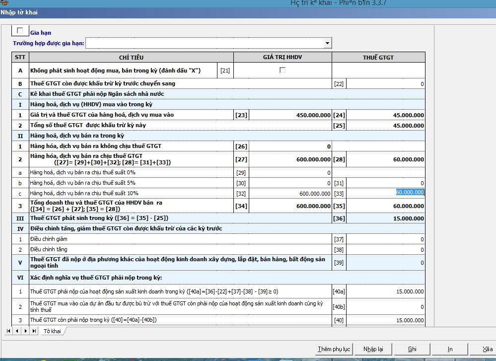 Hướng dẫn kê khai bổ sung điều chỉnh thuế GTGT