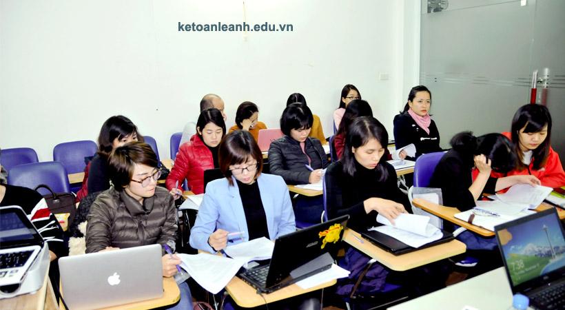 Hình ảnh khóa học thực hành tại Kế toán Lê Ánh