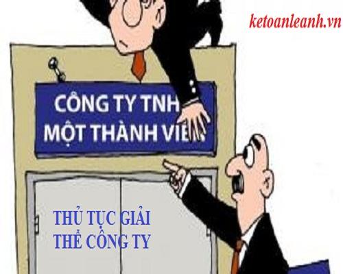 thủ tục giải thể công ty TNHH1TV như thế nào