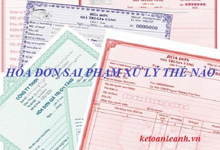 Hướng dẫn xử lý hóa đơn bất hợp pháp