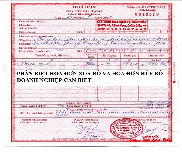 Phân biệt giữa xóa bỏ và hủy hóa đơn trong báo cáo sử dụng hóa đơn