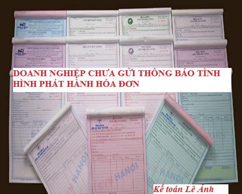 Doanh nghiệp không thông báo lỗi phát hành hóa đơn với cơ quan thuế